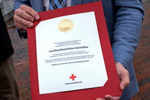 Award received from American Red Cross